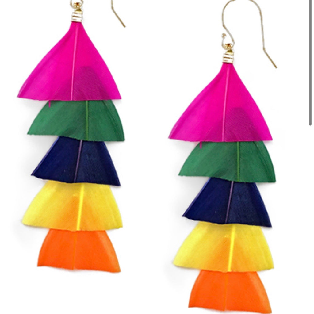 Light as a Feather Earrings: Bright Multi