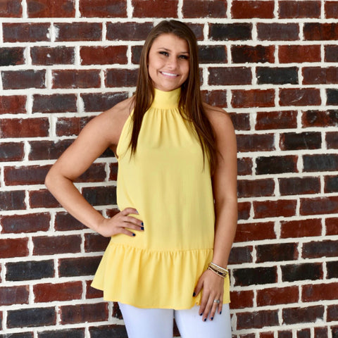 Escape with Me Top: Pale Yellow