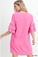 Feeling Flirty Dress: Hot Pink