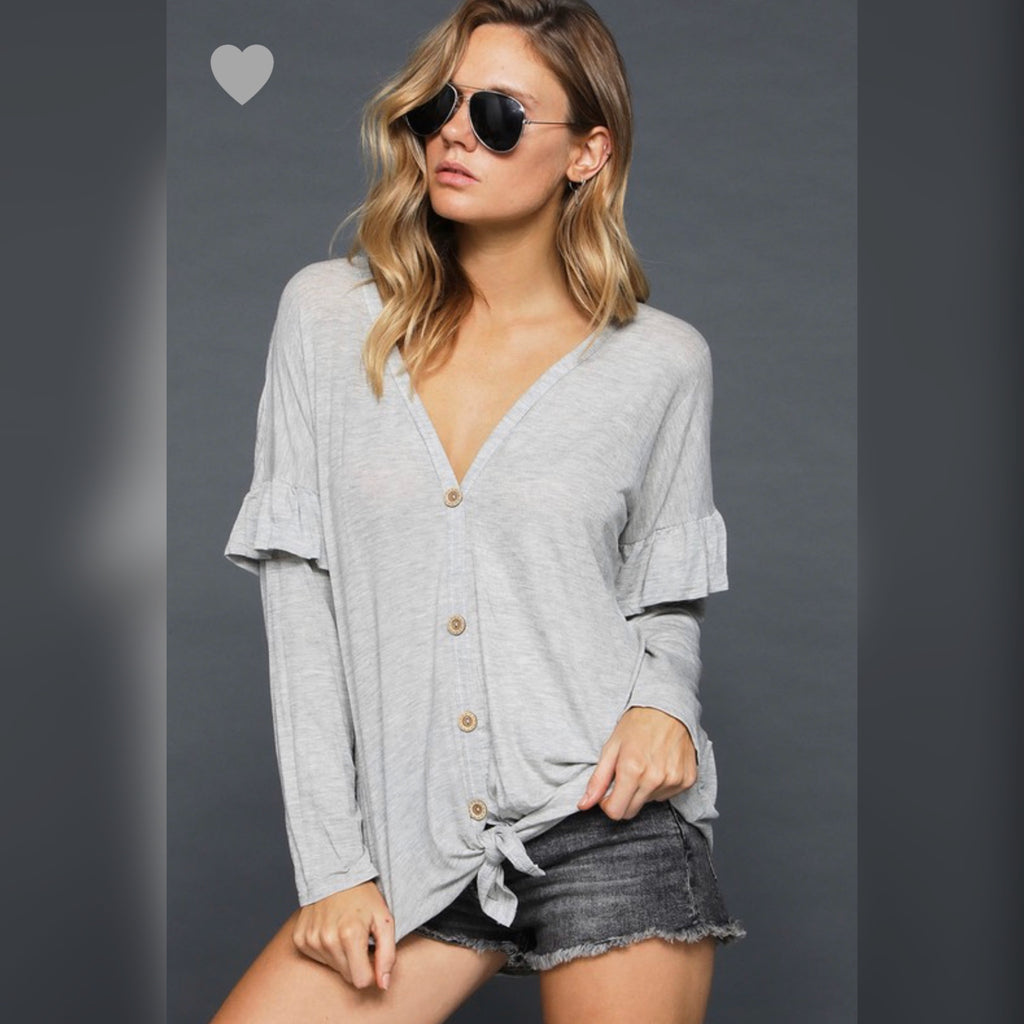 Better with you top: gray