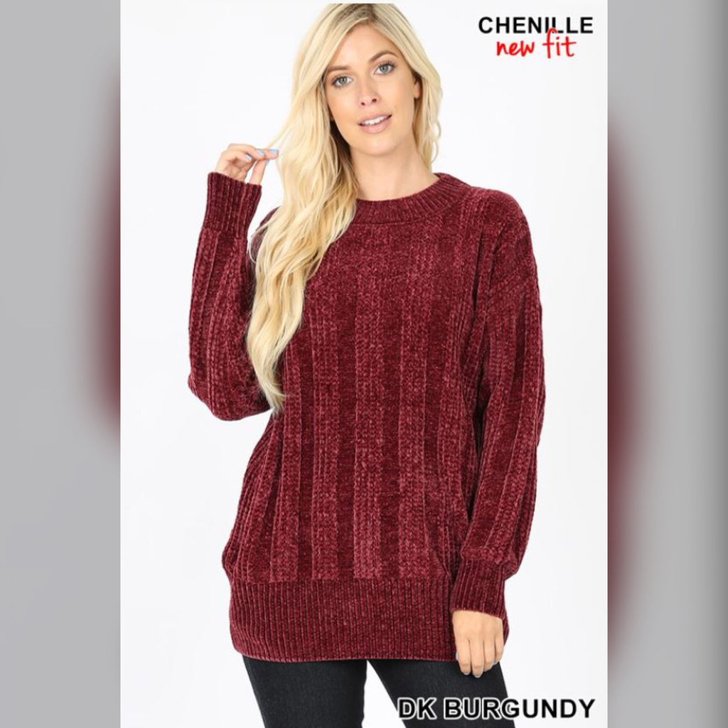 The One You Want Sweater: Dark Burgundy