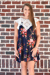 Sweeter In Person Dress: Navy