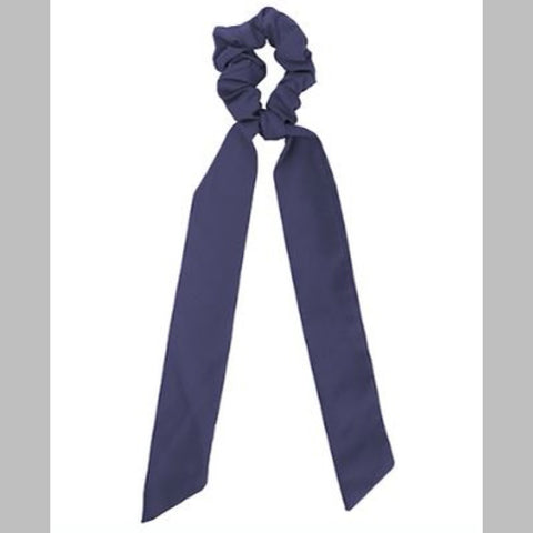 Navy Scarf Pony