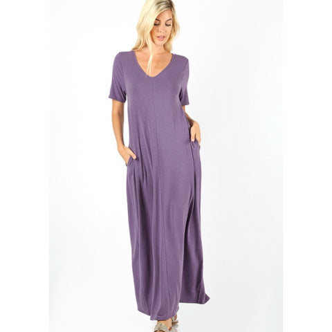 Flow with it Maxi: Lilac Grey