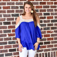 Free & Easy Top: Royal Blue