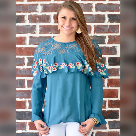 A Fresh Start Top: Teal