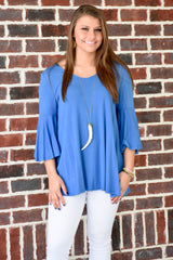 Feel the Breeze Top: Blue