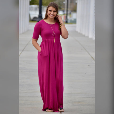 Simple as Can Be Maxi: Magenta