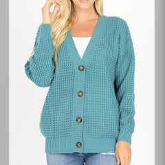 Breaking Free Sweater: Dusty Teal