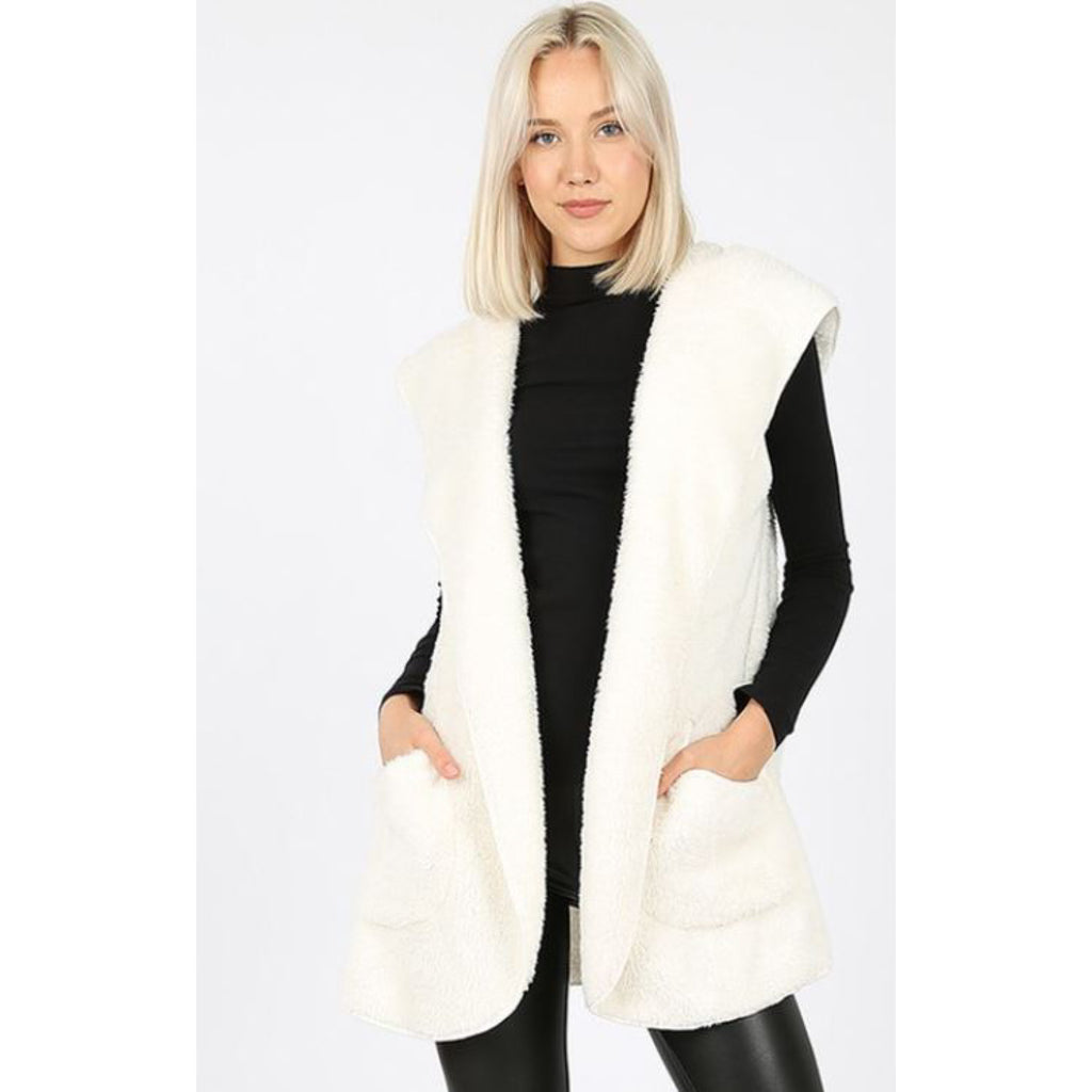 Out & About Hooded Vest: Ivory