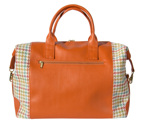 L1014-3125 Duffle Expandable Chi Chi Coral Spacious Weekender Tote Double Straps and Expandable Sides Lined in a Durable Waterproof Denier Lining Part of  Travel and Cosmetic Bags Collection