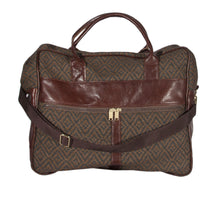 "Load image into Gallery viewer, L1023-3038 Grande Cargo Rioja Stone trimmed w Authentic Leather. Spacious Weekender Tote Double Straps and Adjustable Shoulder Strap. Part of the Unbridled Passion, Travel and Cosmetic Bags Collection 16""x16""x8"""