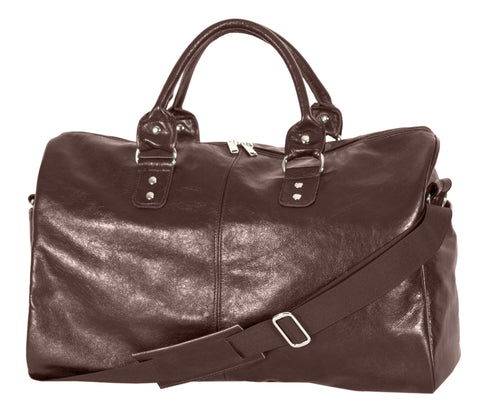 "L1038-12 Borough Bag in an Authentic Old World Deep Chestnut Brown Leather. Part of The On the Tee Vintage Golf Collection and Cosmetic and Travel, Vintage Canadiana, and Totes Collections 18""x12""x8"""