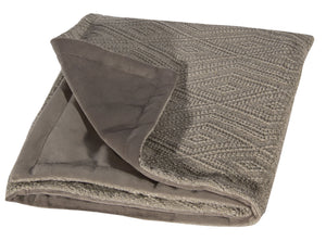 "L620-3137-Naveen Tweed 46""x59"" Textured Sweater Like fabric on this Cozy Throw reverses to solid Coordinate Flanged edge coordinates with The Vintage Canadiana Collection, Lake House,Welcome Home, Elements,Home Trends and Comforts, All made in Canada"