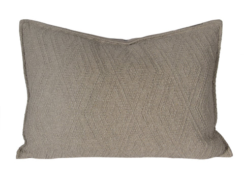 "L626-3137-Naveen Tweed 14""x20"" Textured Sweater Like fabric Pillow reverse to solid Coordinate w Feather Insert & Flanged edge part of The Vintage Canadiana Collection & coordinates with Welcome Home, Elements, Home Trends and Comforts, All made in Canada"
