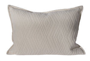 "L626-3142-Naveen Cream 14""x20"" Textured Sweater Like fabric this Pillow reverses to a solid Coordinate, Flanged edge part of The Vintage Canadiana Collection and coordinates with Welcome Home, Elements, Home Trends and Comforts, All made in Canada"
