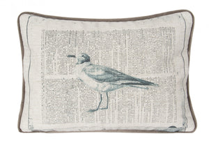 L626-COME Welcome Home Printed Pillow with Feather Insert