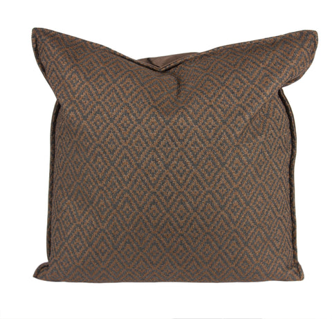"L643-3038 20""x20"" This Rioja Stone Pillow in a Woven Fabric, adds to this unique vintage style, part of Unbridled Passion Collection"