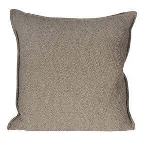 "L643-3137-Naveen Tweed 20""x20"" Textured Sweater Like fabric Pillow reverse to solid Coordinate w Feather Insert & Flanged edge part of The Vintage Canadiana Collection & coordinates with Welcome Home, Elements, Home Trends and Comforts, All made in Canada"