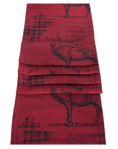 "Country Style City Chic Runner with Elk Motif 13""x72"""