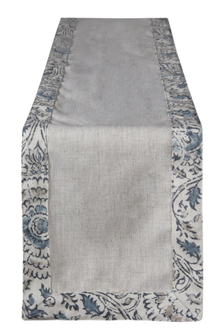 L664R-3135 Table Runner For The Welcome Home Collection in Anala Mist Bordered Trim