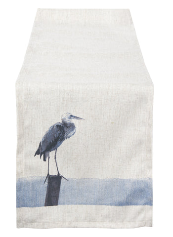 L664R Elements Blue Heron Table Runner