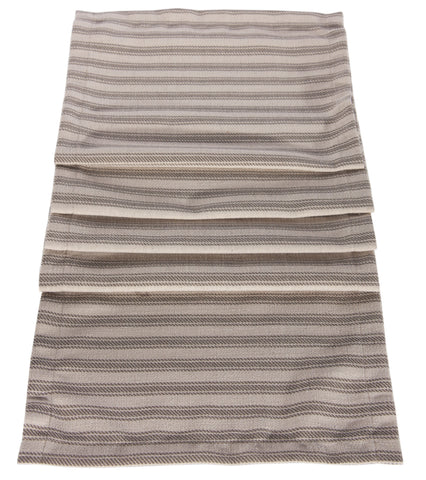 "L664R-STRP 13x72 "" Printed Ticking Stripe Rectangular Table Runner on a Linen Blend For The Lake House Collection"
