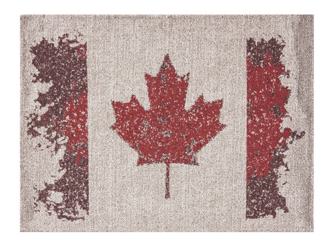 "L705-CANAD 13""x17"" Vintage Canada Flag Image printed on this Rectangular Placemat part of The Vintage Canadiana Collection"