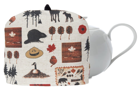 "L724-NORTH 10""x13"" Vintage Iconic Images printed on this Tea Cozy with Removable Liner, part of The Vintage Canadiana Collection"