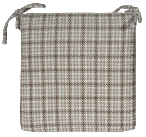"L744-3136 18x18"" Seat Cushion in Eureka Robins Egg Plaid for the Welcome Home Collection"
