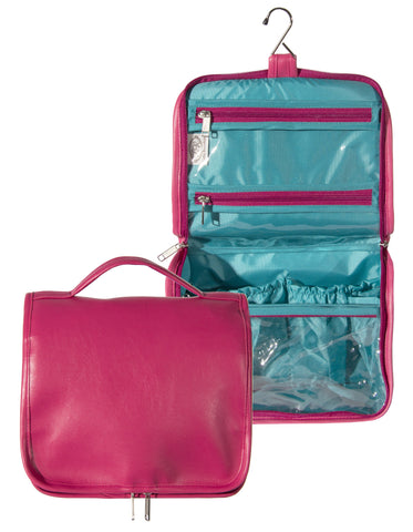 "L789-3128 Ultimate Hangup Fresh Berry, Comes with Hanger and double Zipper for easy travelling and to keep everything contained. Part of the Cosmetic and Travel Collection 10.5""x17""x4"""