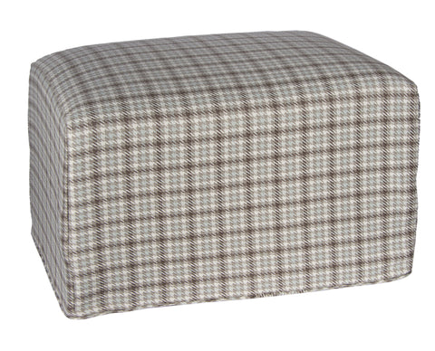 "L900-3136 25""x18""x16"" Rectangular Ottoman in Eureka Robins Egg Blue part of The Welcome Home Collection"