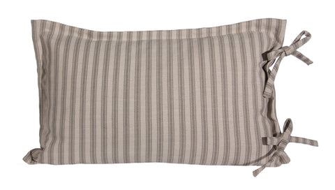 "L954-STRP 16X26""Pillow with a Feather Insert and a Coordinating Ticking Stripe on the Reverse Part of The Lake House Collection"