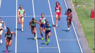 Allyson Felix bumped in 4x100 relay