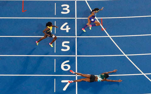 Shaunae Miller dive in Olympics