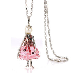 French Doll Necklace Pink