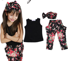 3 piece Floral Outfit Girls Size 8