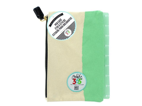 Create 365 The Happy Planner Snap in Pouch, Happy Things Inside Mint With White Pouch