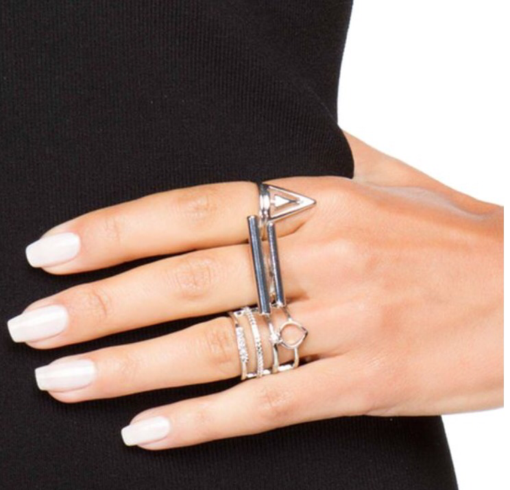 Stacks and Stacks Silver Ring Set