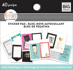 Happy Planner Tiny Sticker Pad-make Things Happen, 40/pkg