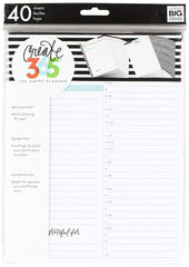The Happy Classic Planner Filler, Daily Fill Paper