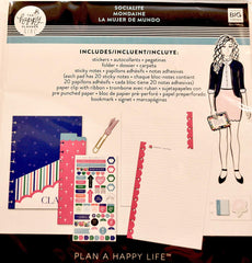 The Happy Planner Girl - Classic Accessory Pack - Socialite, Multicolor
