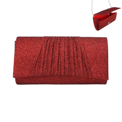 Sparkling Pleated Evening Clutch