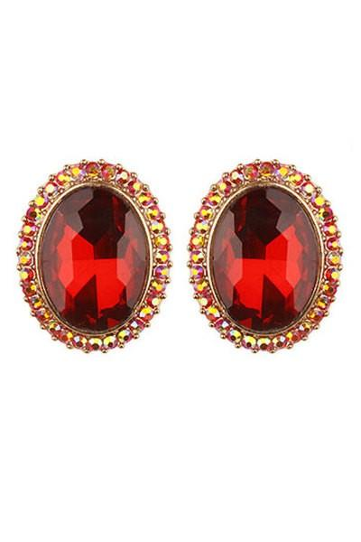 Crystal Stone Post Earrings