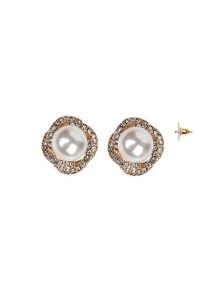 Pearl / Stone Post Earrings