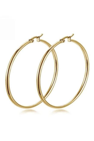 Stainless Steel Hoop Earrings E3890-BK
