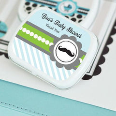 Little Man Party Personalized Mint Tins