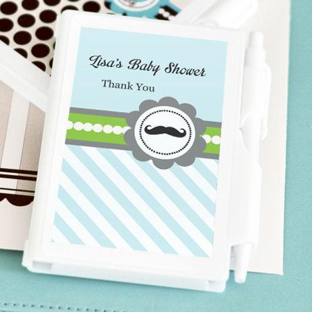 Little Man Party Personalized Notebook Favors