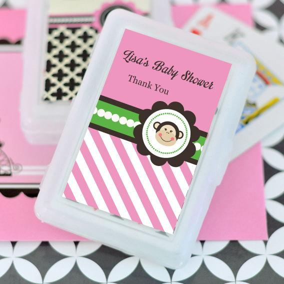 Pink Monkey Party Personalized Playing Cards