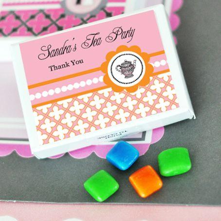 Tea Party Personalized Gum Boxes